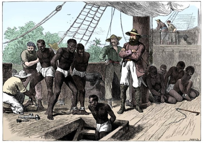 On Board a slaveship